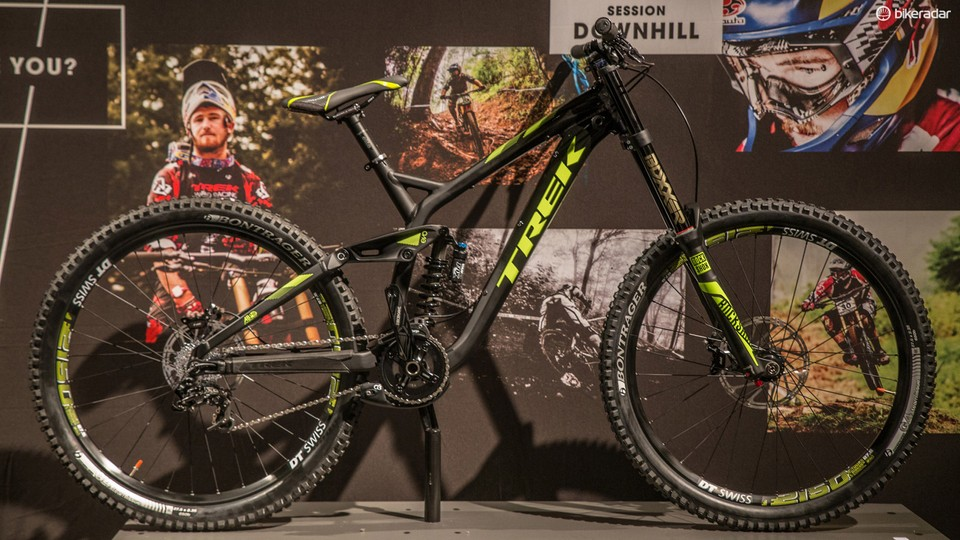 aaebf5e9e30 The Session 88 shares the same geometry as Trek's flagship downhill racer  in a redeisgned alloy