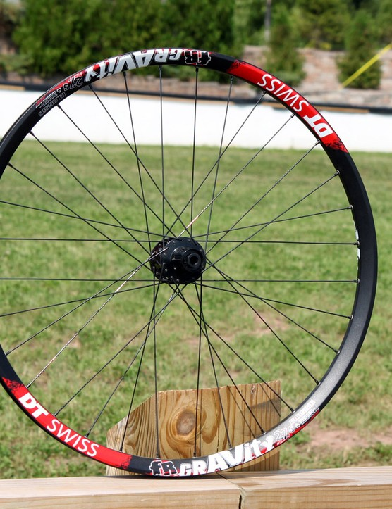 DT Swiss showed off its new Gravity wheelset at the World Cup round in Windham, New York