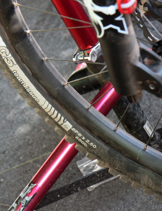 The Trek World Racing team used a new prototype Bontrager DH-focused aluminium rim at the World Cup round in Windham, New York