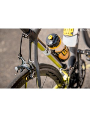 The thin seatstays absorb vibration and bumps without using any gimmicks