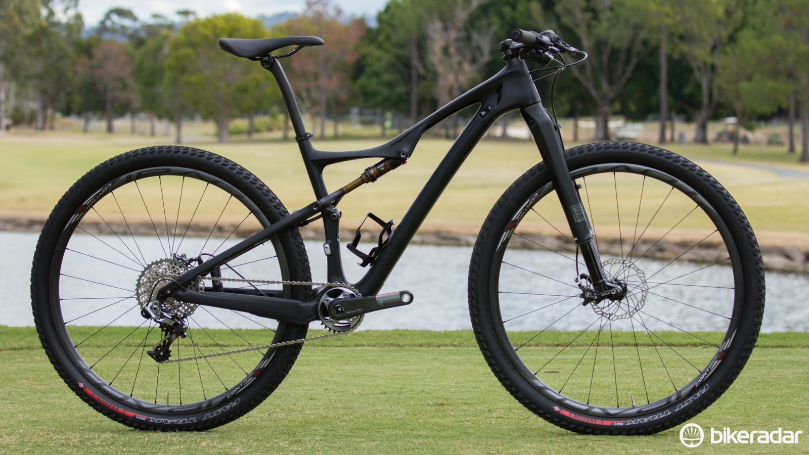 The S-Works Era 29 is a race-focused carbon dual suspension, and being women's-specific makes it a world first