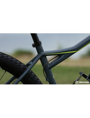 This junction enables Specialized to offer a lower standover height without a sacrifice in frame strength