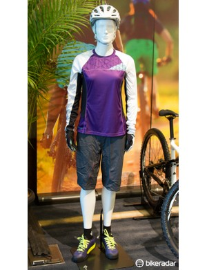 Specialized showed off a full range of women's trail clothing – we hope to test some of this in the near future