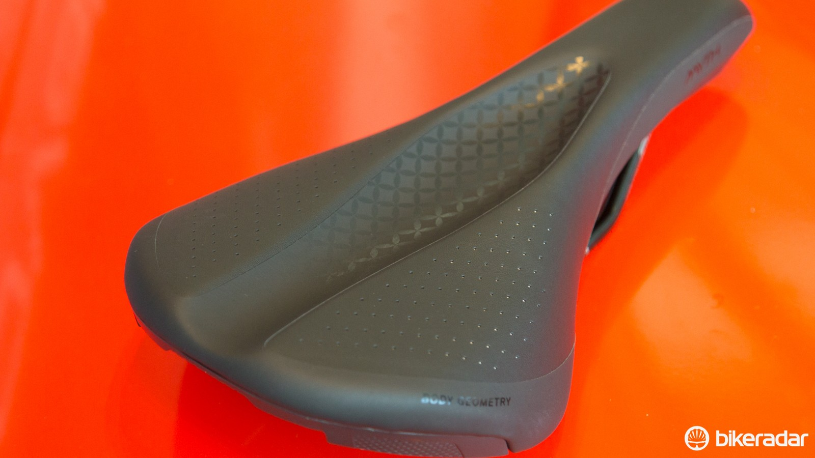 The Body Geometry Groove-V cutout is, says Specialized, a medically tested piece of design