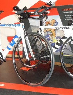 Cervelo's P2 and P3. The P2 (front) is 105-equipped for £2,399, while the higher spec P3 is £3,299 with mechanical Ultegra or £4,499 with Di2. The top spec P3 Dura-Ace is priced at £3,500 – that's a £500 reduction from last year's bike