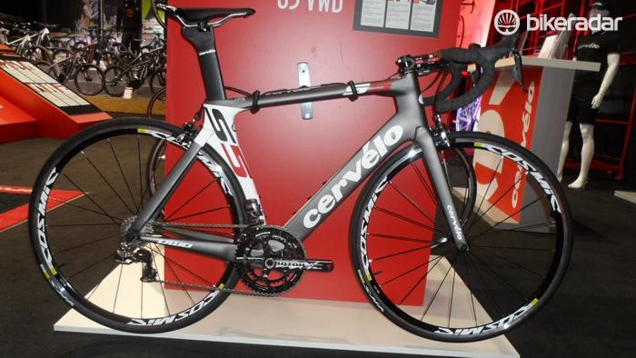 The range-topping aero road bike, the S5 VWD Di2, features a lighter frame than the standard S5 and full Shimano Dura-Ace Di2 for £6,599