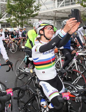 Marianne Vos also took part in the RideLondon-Surrey 100, which was blighted by rain