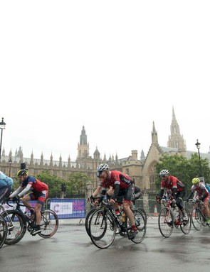 The ride past London's most famous landmarks was no less spectacular in the rain