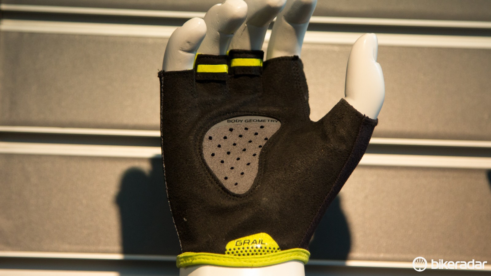 The Grail glove, which generated plenty of chat, places the gel padding in the middle of the palm and is said to flatten the hand surface, reducing fatigue and pain