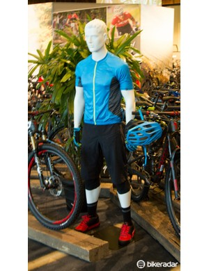 Specialized had a huge range of clothing on display, including road, off-road and casual types