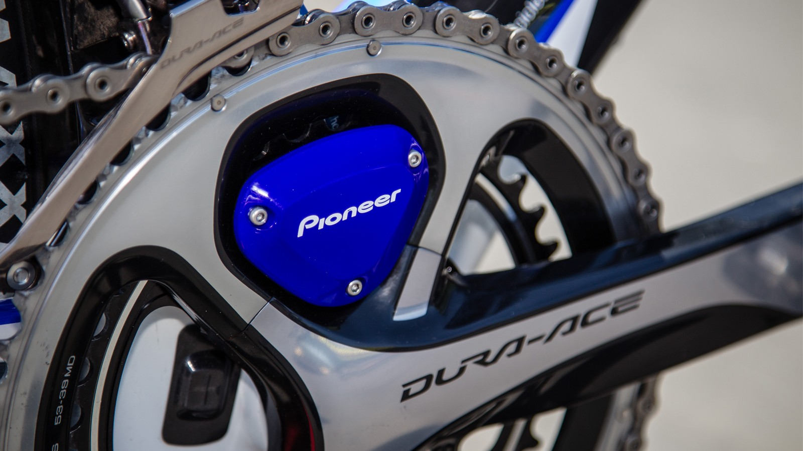 Pioneer's power meter is just one example that measures both left and right power balance. The firm is a sponsor of Ben Day's