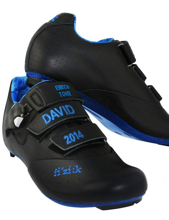 The stylish shoes came courtesy of Millar's friend and cycling fan Paul Smith