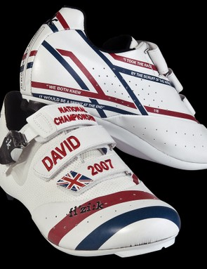 Millar's 2007 national road race victory is immortalised by these patriotic shoes