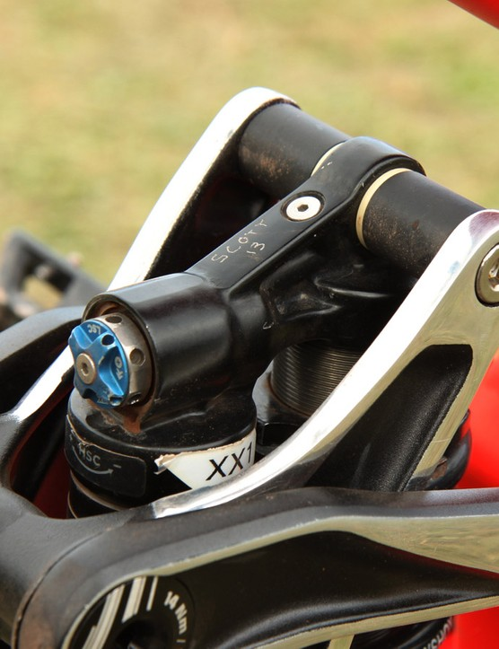 Fairclough isn't on one of Fox's new RAD rear shocks but it's been factory tuned nonetheless