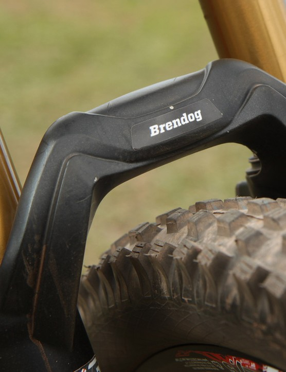 Factory tuned Fox forks typically bear a personalised sticker on the arch
