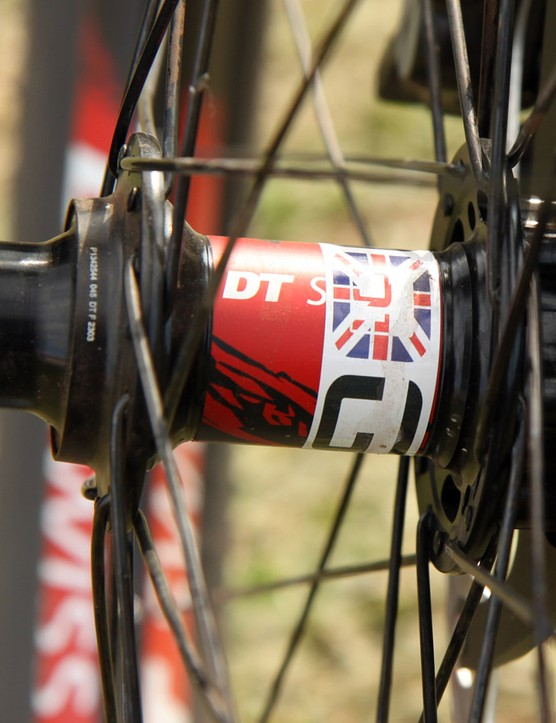 Union Jacks are littered throughout the bike