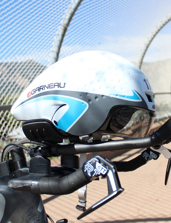 Although not part of the bike, the helmet is critical. Louis Garneau's new P-09 did the trick
