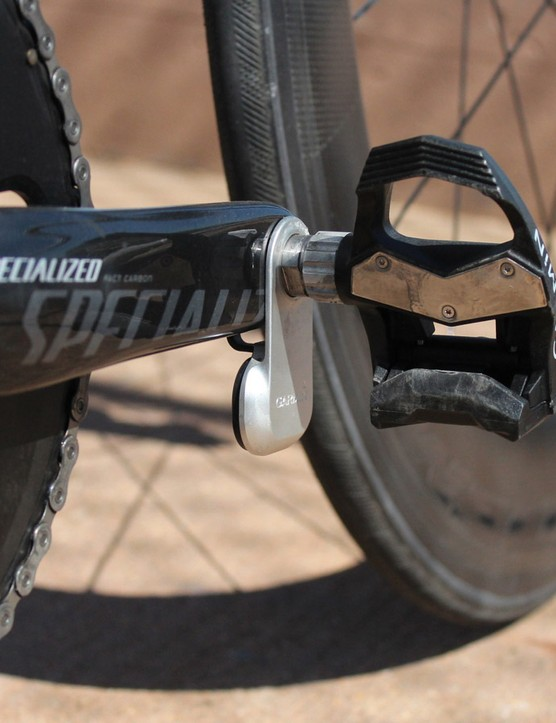 I hate the look of the dangling pods, but the convenience of the Garmin Vector power meter pedals is nice