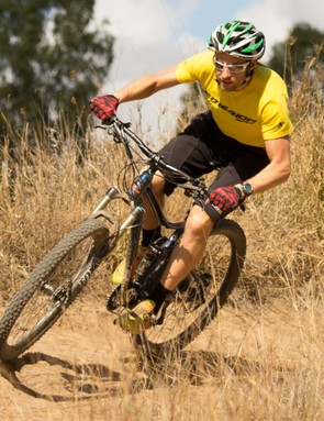 Jason English, the undefeated 24-hour world solo mountain bike champion since 2010, was at the launch and testing the new One-Twenty