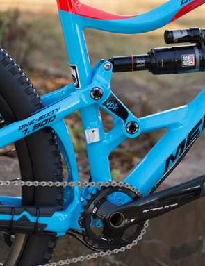 Merida's VPK virtual pivot suspension design continues in both the One-Forty and One-Sixty models