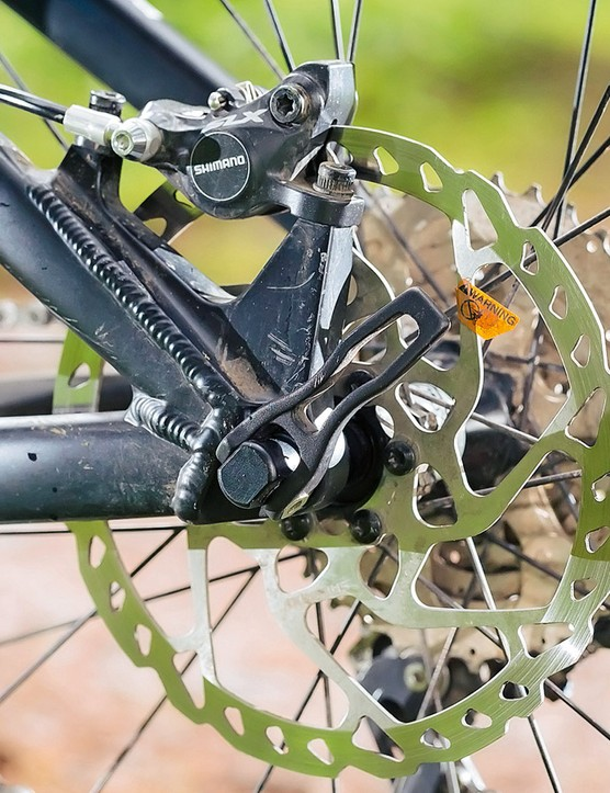 The Shimano brakes work well despite being unflashy; much like the rest of the bike