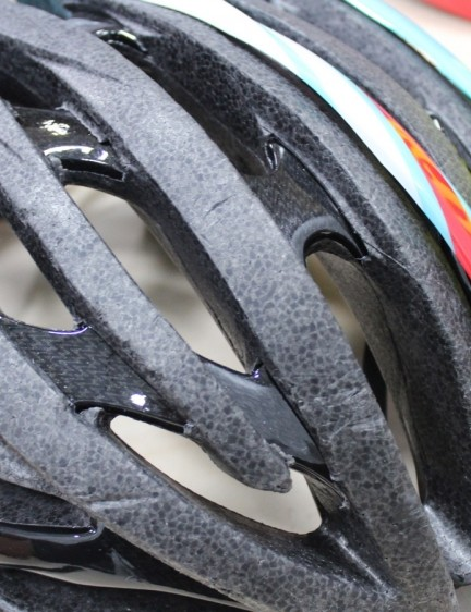 EPS foam is the main component of virtually all helmets. Thin plastic protects that layer against everyday dings, and improves the look substantially