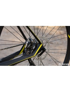 From an adjustment perspective, we like the angle of this brake mount