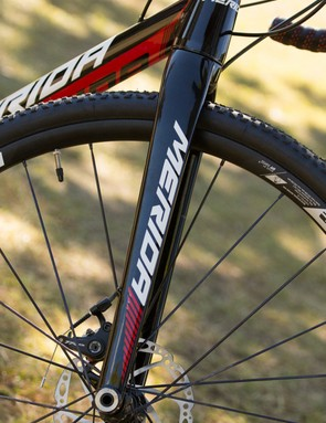 Tapered head tube and carbon fork add to the performance factor