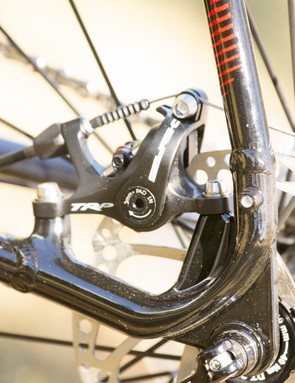 According to Merida, this tucked-away brake mount was not easy to achieve in aluminium and required the designing of new tooling