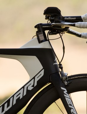 A look at the front end of the Merida Warp Tri