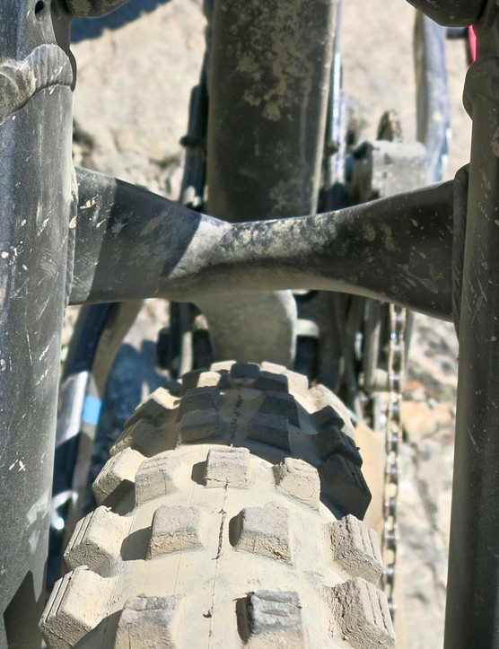 Mud clearance is UK-friendly, even with hulking Schwalbe tires in place