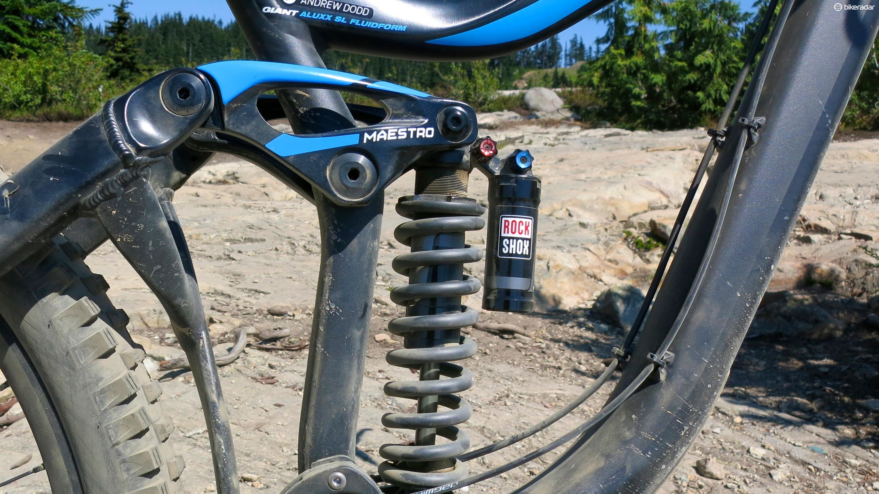 Giant has now used a longer eye-to-eye shock and has a bearing in the upper shock mount