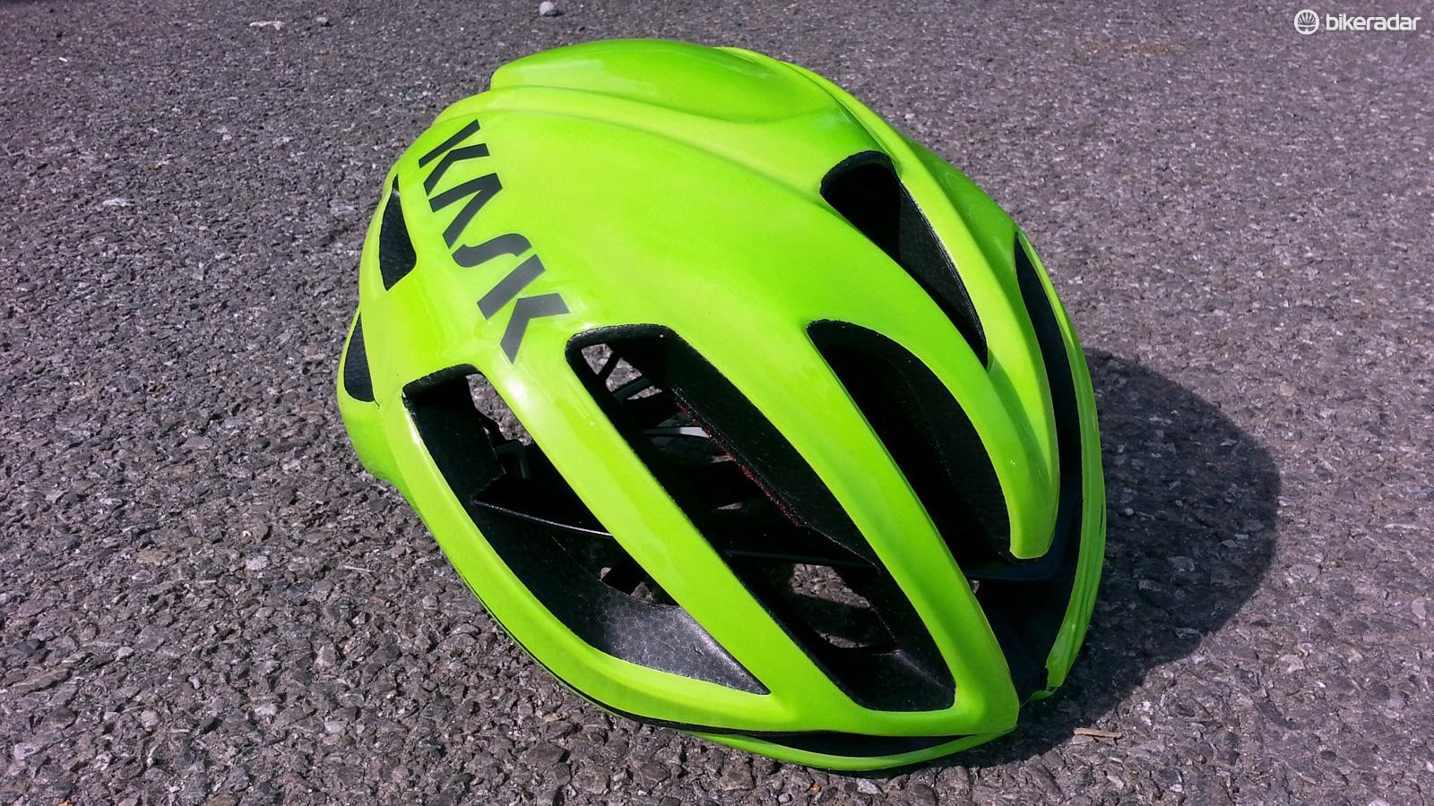 The Kask Protone has been developed in conjunction with Team Sky
