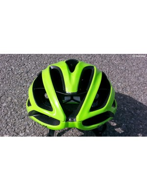 Front-on, it doesn't look like an aero helmet