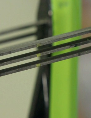 The glass fibre leaf springs give 60mm of travel