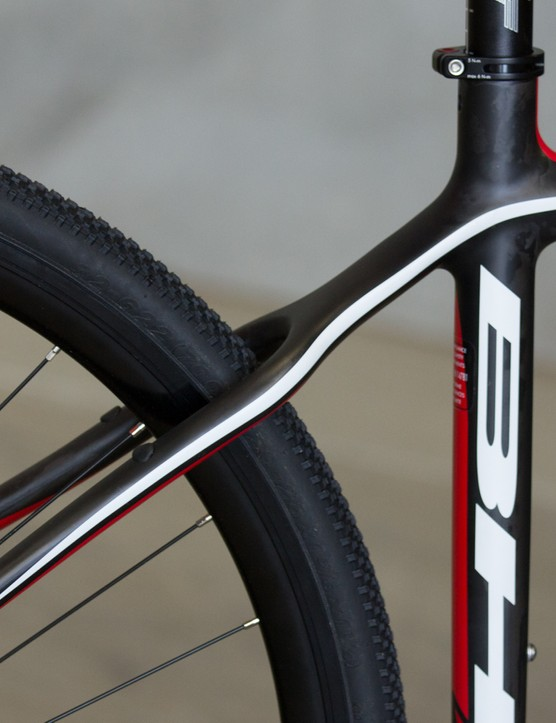 Wavy seatstays are there to help promote vertical compliance in the rear end