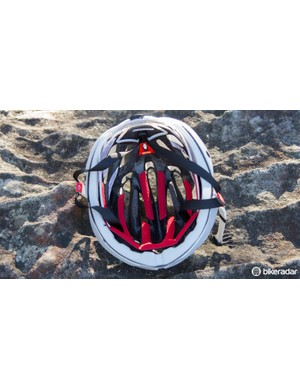 Internal channeling helps promote airflow through the helmet