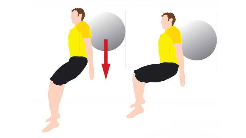 Strengthen your glutes with wall ball squats