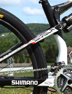 Team bikes don't just get name stickers; they're fully custom painted for each rider