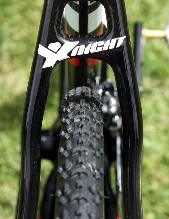 Tyre clearance on the new Ridley X-Night generous all around