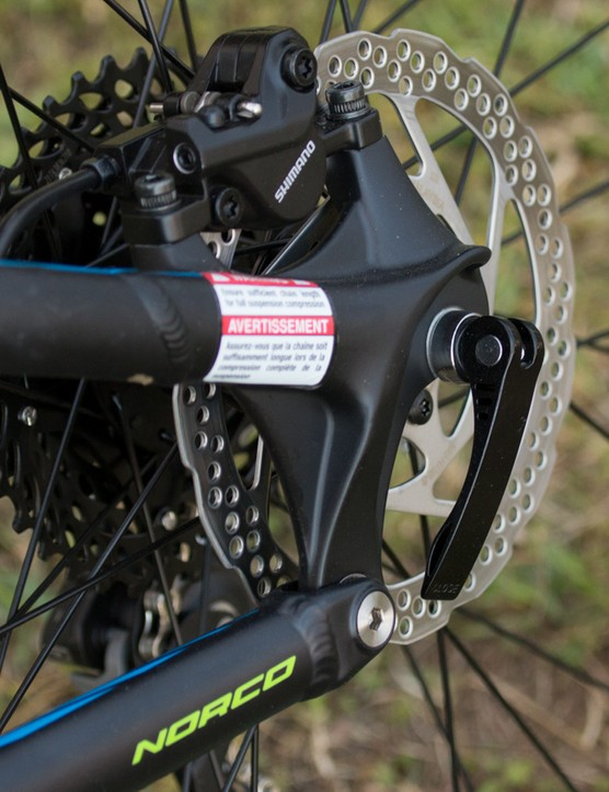 The Fluid range use a more basic aluminium frameset and lose such features as a rear thru-axle in order to keep prices down