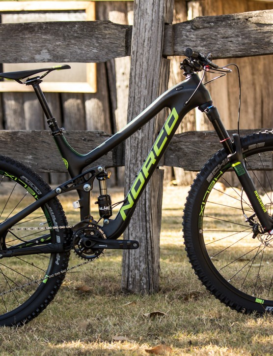 The 2015 Norco Sight C 7.2 (US$TBC / AU$5,999 / £TBC), with a carbon frame and a hard-hitting suspension package