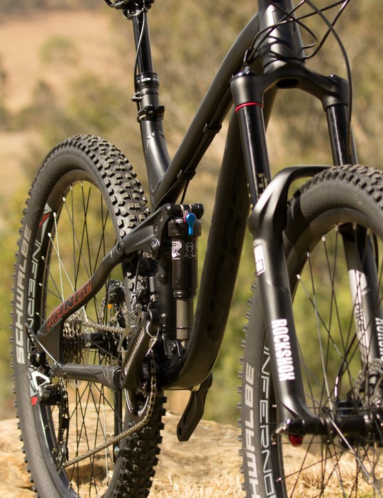 Another view of the new Norco Range A 7.1, including its Rockshox Pike RC and Fox Float CTD Evolution w/high volume suspension package