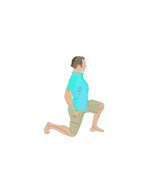 Kneeling hip flexor stretch