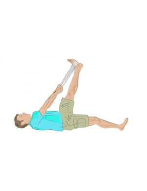 Towel hamstring stretch