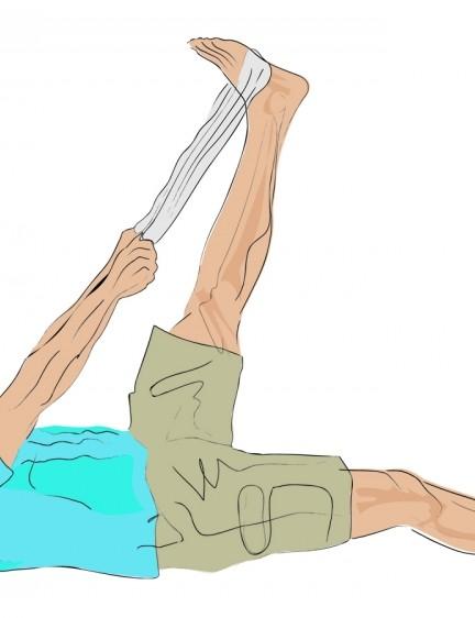 Towel hamstring stretch