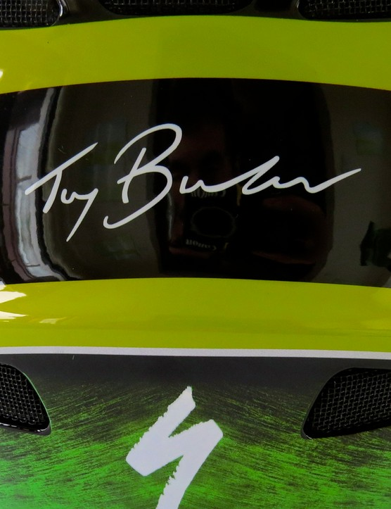 The Troy Brosnan helmet includes slide-out side sections so the emergency services can safely remove it in the event of a serious crash
