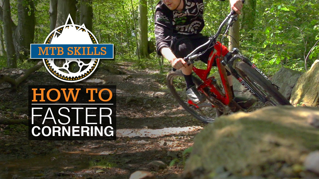 Taking corners faster will improve your flow on twisty trails
