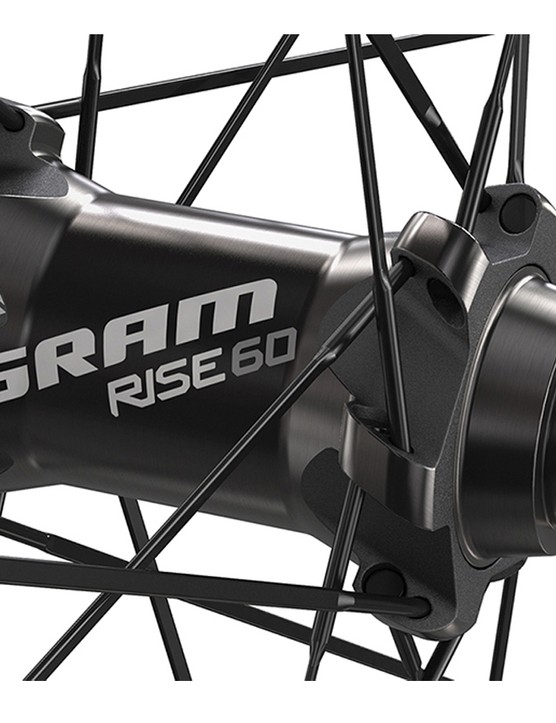 The Rise 60 wheelset will come in versions with a 15mm thru-axle (also compatible with quick-release) as well as a dedicated Predicitve Steering version for the RockShox RS-1