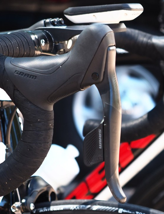 Little appears to have changed since we saw SRAM's upcoming wireless electronic group on the team bikes of the Bissell Development Team at the USA Pro Cycling Challenge last May, which suggests the bits are in final testing and are soon to be released